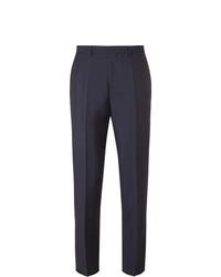 Hugo Boss Navy Slim Fit Virgin Wool And Mohair Blend Trousers