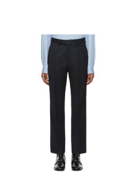 Gucci Navy Wool Tricotine Trousers