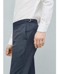 Mango Outlet Prince Of Wales Wool Blend Suit Trouser