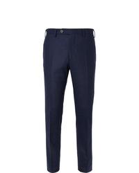 Lardini Skinny Fit Mlange Wool Trousers