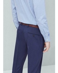 Mango Outlet Slim Fit Patterned Suit Trousers