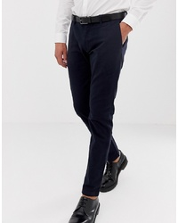 Esprit Slim Fit Smart Trousers In Navy