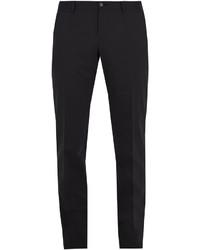 Dolce & Gabbana Slim Fit Stretch Wool Blend Trousers