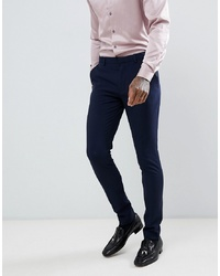 ASOS DESIGN Super Skinny Tuxedo Suit Trousers In Navy