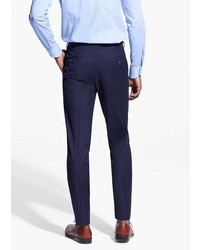 Mango Tailored Fit Textured Suit Trousers