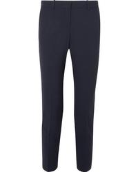 Theory Testra Wool Blend Crepe Slim Leg Pants