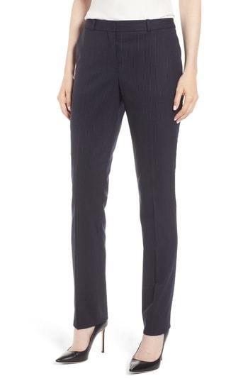 BOSS Titana Tonal Stripe Stretch Wool Trousers