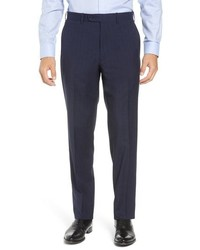 John W. Nordstrom Torino Traditional Fit Plaid Wool Trousers