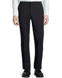 DKNY Wool Blend Straight Leg Trousers Navy