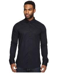 Scotch & Soda Classic Long Sleeve Shirt In Crispy Cotton Clothing