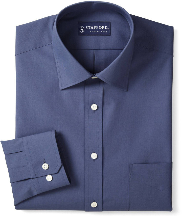 jcpenney stafford travel easy care broadcloth dress shirt