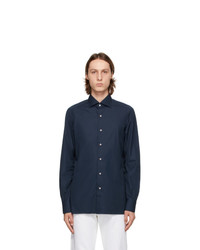 Isaia Navy Dress Shirt