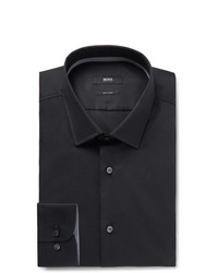 Hugo Boss Navy Jesse Slim Fit Cotton Poplin Shirt