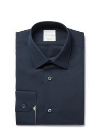 Paul Smith Navy Soho Slim Fit Cotton Poplin Shirt