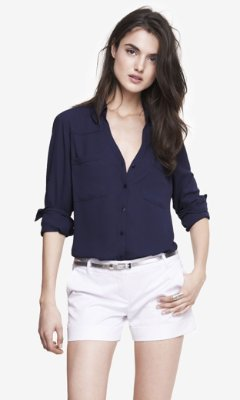 35948d2d567ac ... Express Original Fit Convertible Sleeve Portofino Shirt ...