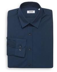 Moschino Regular Fit Cotton Dress Shirt