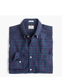 J.Crew Slim American Pima Cotton Oxford Shirt In Tattersall