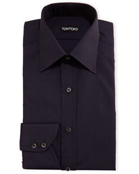 Tom Ford Slim Fit Classic Collar Dress Shirt Navy