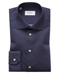 Slim fit dot dress shirt medium 8576771