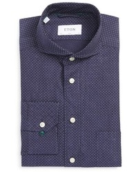 Slim fit microdot dress shirt medium 4380184