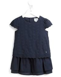 Armani Junior Heart Tiered Dress