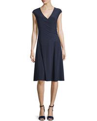 Nic+Zoe Cap Sleeve Faux Wrap Dress
