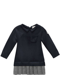 Moncler Long Sleeve Collared Sweaterdress Navy Size 6m 3