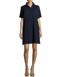 Joan Vass Short Sleeve Piqu Dress Petite