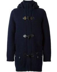 Chunky knit hooded duffle coat medium 98732