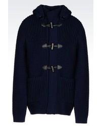Giorgio Armani Hooded Knit Duffle Coat