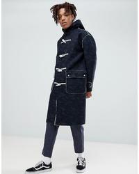 ASOS DESIGN Asos Faux Shearling Duffle Coat In Camo Print