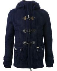Bark Knitted Padded Toggle Coat