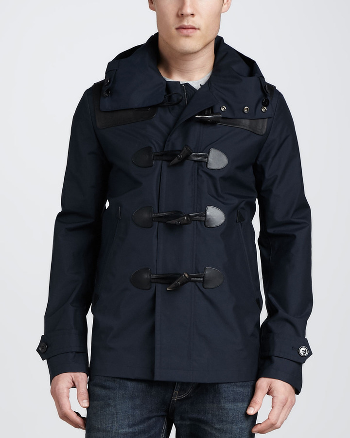 Burberry Brit Waterproof Duffle Coat Navy