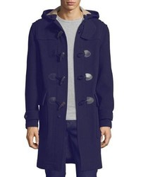 Burberry Brit Waterproof Duffle Coat Navy | Where to buy & how to wear