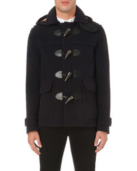 Burberry Checked Hood Wool Blend Duffle Coat