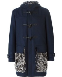 MSGM Woollen Panel Duffle Coat