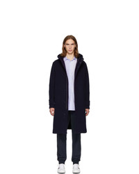 Herno Navy Double Face Wool Duffle Coat