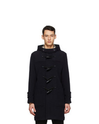 Burberry Navy Wool Duffle Coat