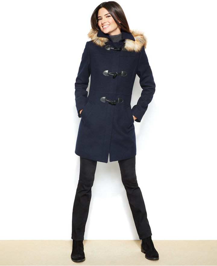 Nautica Toggle Front Faux Fur Hooded Coat | Where to buy & how to wear