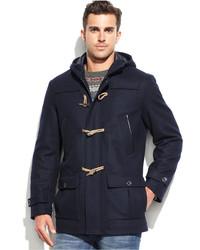 Nautica Wool Blend Hooded Toggle Coat