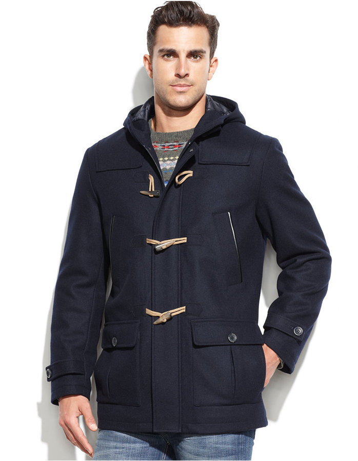 Nautica Wool Blend Hooded Toggle Coat | Where to buy & how to wear