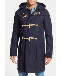 J.Press York Street Trim Fit Wool Blend Hooded Duffle Coat