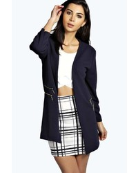 Boohoo Elsie Zip Duster Coat