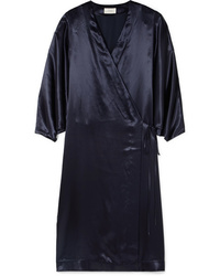 The Row Impu Satin Wrap Coat