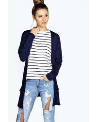 Boohoo Lilly Long Sleeve Jersey Pocket Cardigan