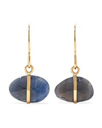Melissa Joy Manning 14 Karat Gold Sapphire Earrings