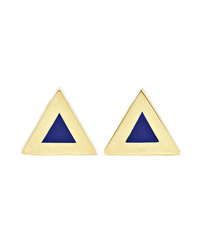 Jennifer Meyer 18 Karat Gold Lapis Lazuli Earrings