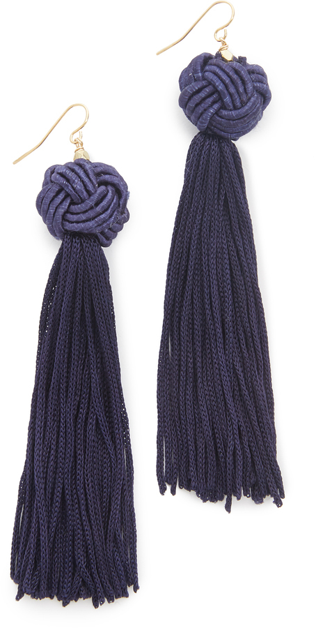 Vanessa Mooney Astrid Knotted Tassel Earrings