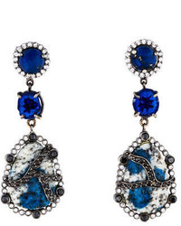 Azurite In Granite Earrings