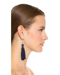 Kenneth Jay Lane Bead Tassel Earrings